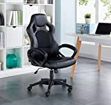 IDS Home MLM-18511-BK Video Gaming Racing Home Computer Desk Ergonomic High Back Executive Office Chair by Ids