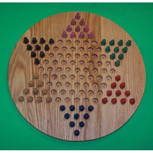 満点の パズルマンのおもちゃ W-1925.5 W-1925.5 PEG PEG 18インチ 丸型油絵 中国チェッカーズ 木製 PEG B07HKFXTSX ゲームボード - レッドオーク B07HKFXTSX, キタミシ:7eca3672 --- a0267596.xsph.ru