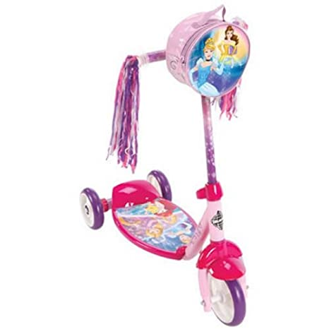 amazon com huffy girls disney princess 3 wheel preschool scooter