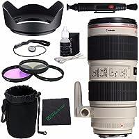 Canon EF 70-200mm f/2.8L IS II USM Lens + 77mm 3 Piece Filter Set (UV, CPL, FL) + LENS CAP 77MM + 77mm Lens Hood + SLR Lens Pouch + Lens Pen Cleaner + Microfiber Cleaning Cloth Bundle