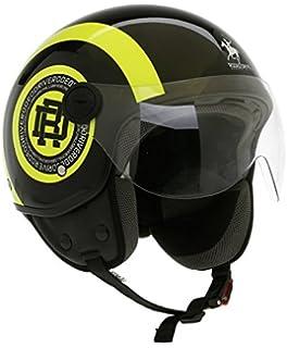 DOOA Casco Demi Jet CS16D Nero//Bianco-Black Matt//White Fashion helmet L