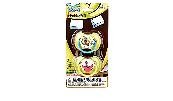 Nickelodeon Spongebob Pacifiers, 2 Pack