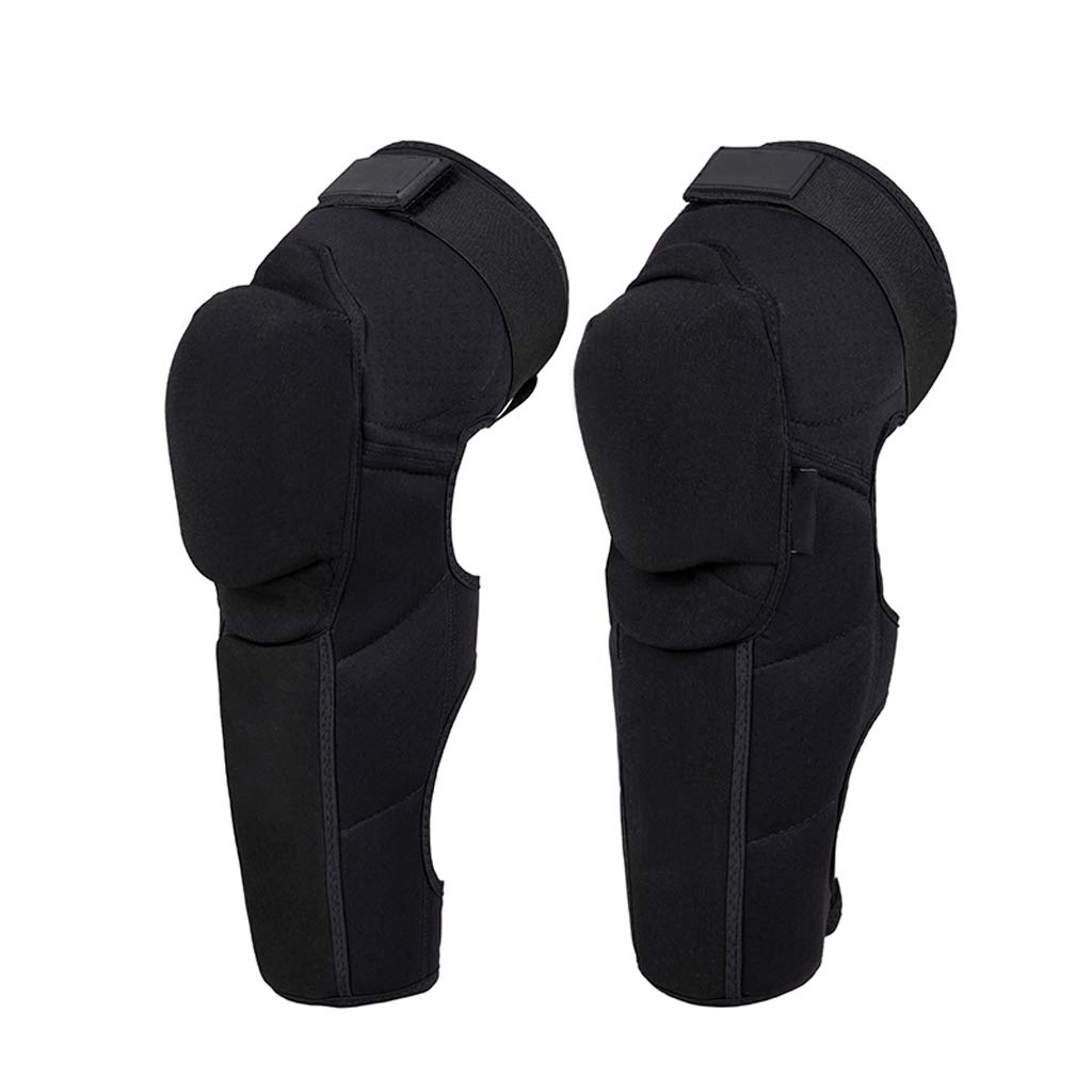 TY BEI Kneepad Kneepad - Motorcycle Knee Pads Protector Sports Scooter Motor-Racing Guards Gears Scooter Protective Kneepad L/XL @@ (Color : Black, Size : L)