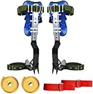 TWSOUL New Adjustable Tree Climbing Spike Set 2 Gears, 304 Stainless Steel Tree Climbing Tool Non-Slip Pedal f