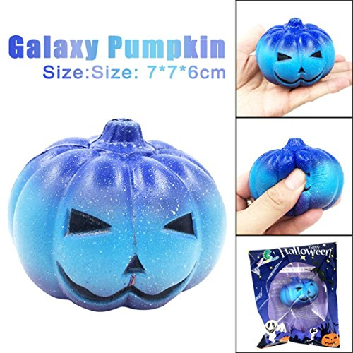 HANYI Stress Relief Toys For Kids With Adhd, Squeeze-Therapy-Sensory-Squishy-Educational (Galaxy Pumpkin)