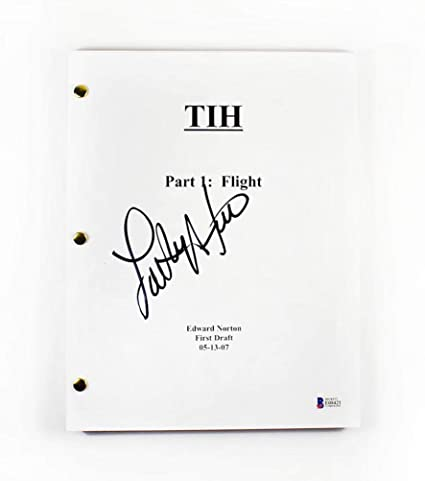 Lou Ferrigno 'The Incredible Hulk' Signed Script Certified Authentic
