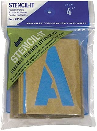 2 Pulgadas Graphic Products Duro by Stencil-It Juego de Plantillas para Tabla de Aceite