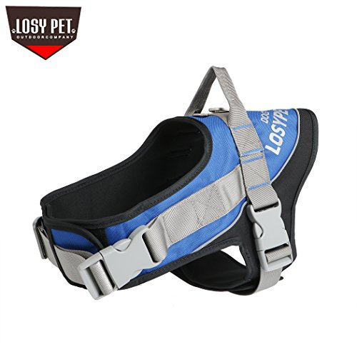 LOSYPET Pet Supplies No Pull Dog Vest Harness Double Buckle for All Breeds, Adjustable Heavy Duty Safety Pet Harness, Soft Vest for Large Dogs Walking Training