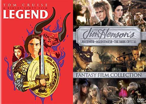 The Ultimate Children's Fantasy Film Collection: Legend (Alternate Limited Edition Pop Art Cover) + Jim Henson's Fantasy Film Collection: The Dark Crystal/ Labyrinth/ Mirrormask DVD Bundle
