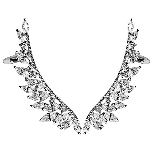 Women Angel Wings Rhinestone Ear Stud Dangle Earrings Jewelry - 5