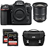 Cheap Nikon D500 CMOS DX DSLR Camera w/ 4K Video (Body) + NIKKOR 10-24mm f/3.5-4.5G ED Lens + 2x Lexar 64GB Professional 1000x SDHC/SDXC Class 10 Memory Card + Deluxe DSLR Camera Bag