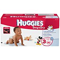 Huggies Snug & Dry Diapers, Size 3, 96 Count