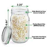 Seed Sprouting Kit Mason Jar Set with 2pcs 32oz