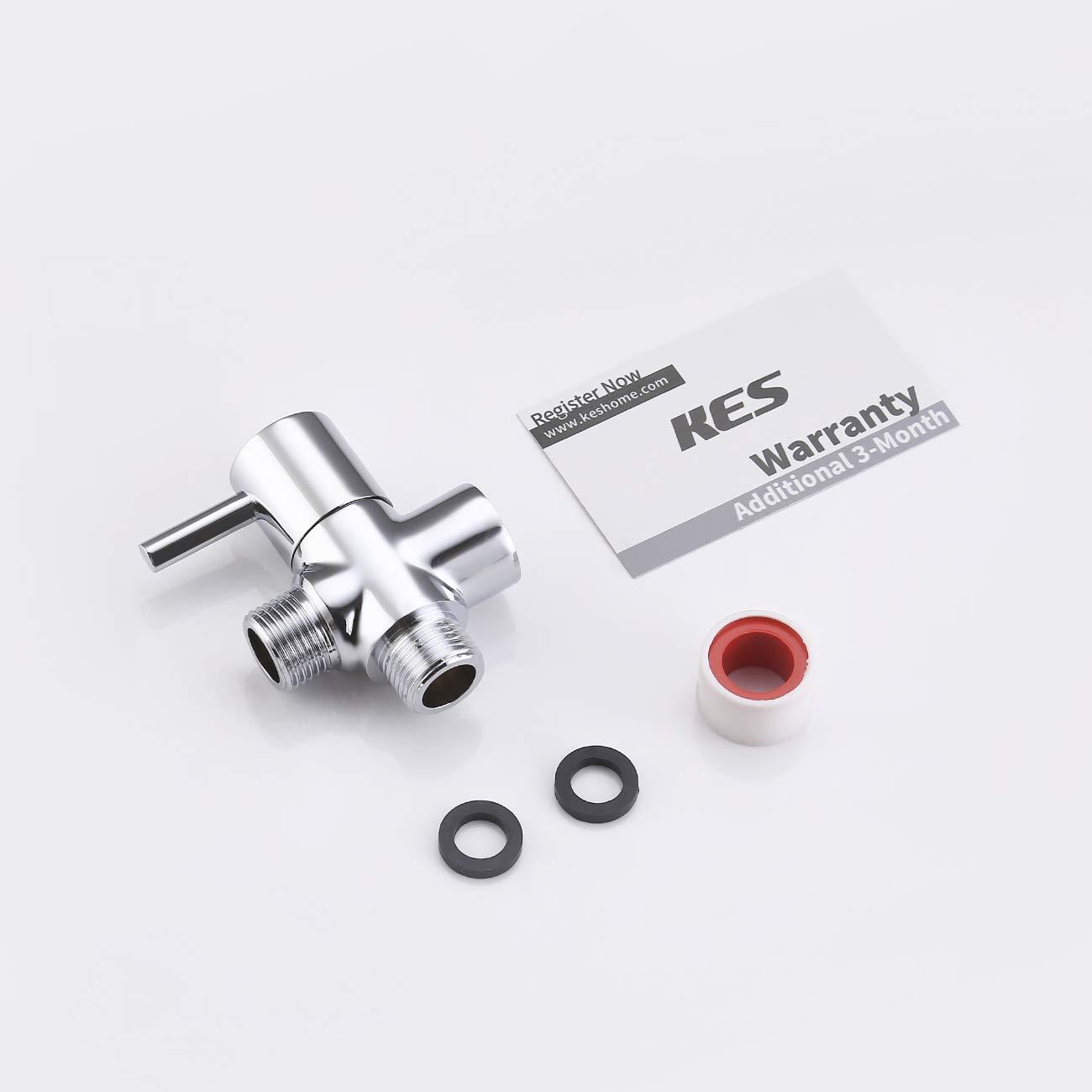 Cepillado N/¨/ªquel PV14-2 KES V/¨/¢lvula Desviadora Ducha Brazo Universal Sistema Componente Recambio Parte para Mano Cabo y Fijo Aerosol Cabeza