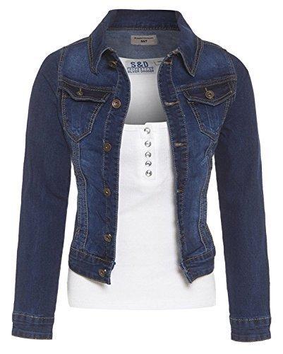 14 8 Jeans Tailles Indigo Veste indigo Femmes pour SS7 en jeans NEUF nvP0Y6wqz