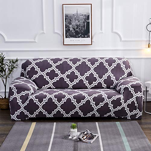 - BCVHGD Pastoral Floral Printed Sofa Covers for Living Room Sofa Cover Spandex Stretch sectional Sofa 1/2/3/4 seat Cover slipcovers,Color 14,4-Seater 235-300cm