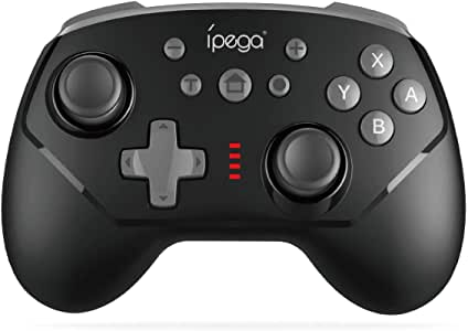 Wireless Pro Game Controller for Nintendo Switch │Support Wireless/Wired Connection │Six-Axis Gyroscope and Vibration [ Trubo ] (Black)