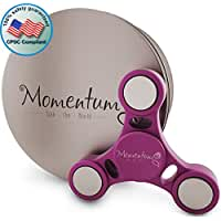 MomentumS High Speed Fidget Spinner Toy for Adults and Kids in Premium Metal Gift Box, Silent 3-5 min of Spin Time – Stress and Anxiety Relief, ADHD Focus Enhancement