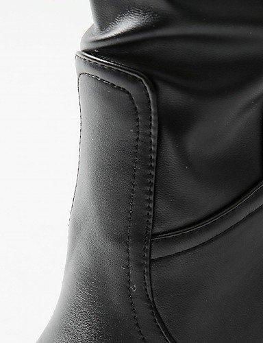 XZZ/ Damen-High Heels-Hochzeit / Büro / Kleid / Lässig / Party & Festivität-Lackleder / Kunstleder / Kunststoff-Stöckelabsatz-Absätze / Cowboy black-us6 / eu36 / uk4 / cn36
