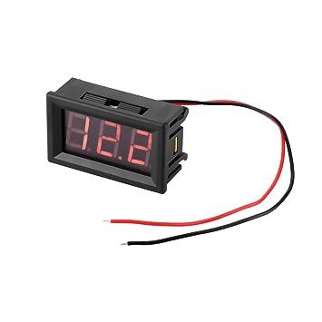 ONEVER 2-Draht-Miniauto-Digital-Voltmeter-Detektor 0,56\