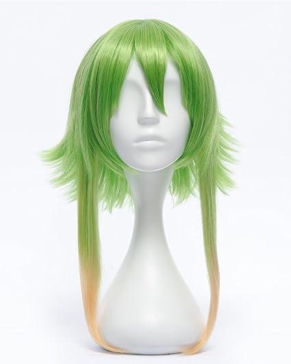 tsnomore Nueva populäre amarillas y verdes Vocaloid Gumi Cosplay peluca