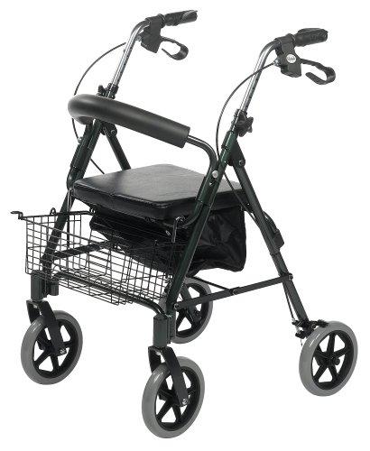 Dlx Wine - Lifestyle Mobility Aids Royal DLX Aluminum 4 Wheel Walker, Champagne