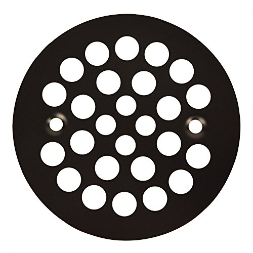 Oil Rubbed Bronze Round Shower Grate Drain 4 1/4-in. Replacement - Drain Cover Inch 1/4