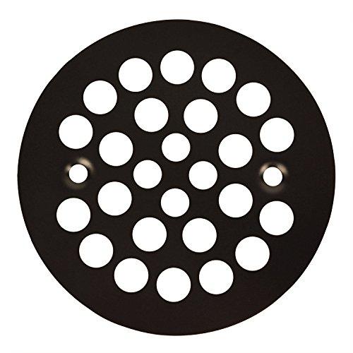 (Oil Rubbed Bronze Round Shower Grate Drain 4-1/4