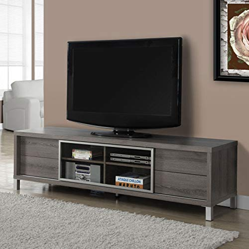 MRT SUPPLY Specialties 70 Inch Dark Taupe Euro Style TV Console Entertainment Stand with Ebook by MRT SUPPLY (Image #2)