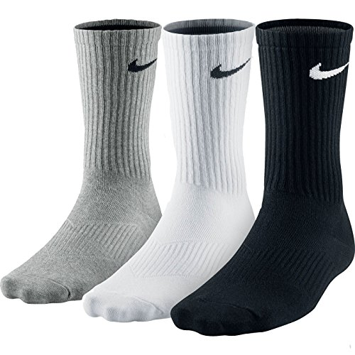 NIKE Men's Lightweight Crew Socks (Pack of 3) (X-Large, Multi Coloured) from NIKE