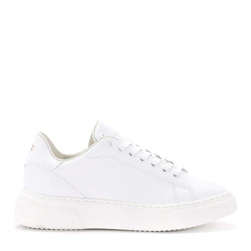 hot sale online 00938 e52b9 Philippe Model Sneaker Temple In Leder Weiss, Größe Uk ...