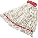 Rubbermaid Commercial Swinger Loop Wet Mop, Extra-Large, 5-Inch Headband, White Pack of 6