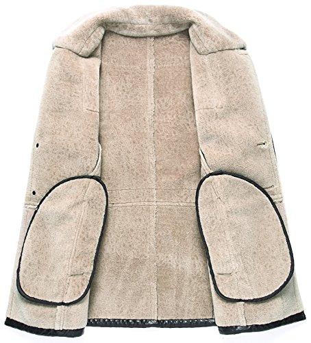 Trench Laine Chaud Cuir Mouton Duffle F1728 Hiver Peau Blazer Manteau Moxishop D'agneau En De Doublé vert Coat Revers Parka Fourrure Hommes q7n6wvz
