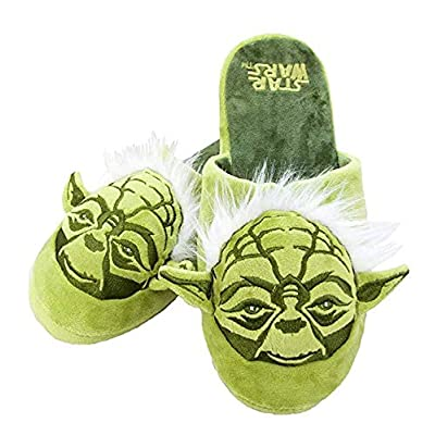 Star Wars Yoda Men's Green 3D House Slippers: Clothing