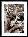 vintage hockey - SPORT VINTAGE PHOTO ICE HOCKEY SLAM HOWE HANNIGAN COOL FRAMED ART PRINT & PICTURE & MOUNT F12X1118