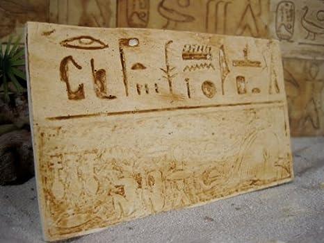 Egiziano parete piastrelle n. 4 geroglifici 3 pezzi: amazon.it