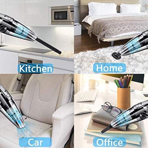 SANON Humide et l\'utilisation à Sec Petit aspirateur Mini Maison sans Fil de Charge des Accessoires électroniques Voiture à Double Usage WTZ012