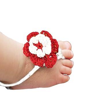Amazon.com: Puro hecho a mano tejer flores Descalzo ...