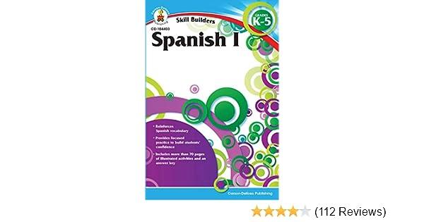 Carson Dellosa Skill Builders Spanish I Workbook Grades K 5