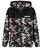 WOQN Women's Casual Jackets Female Light Weight Windbreaker Camouflage Basic Jackets for Women