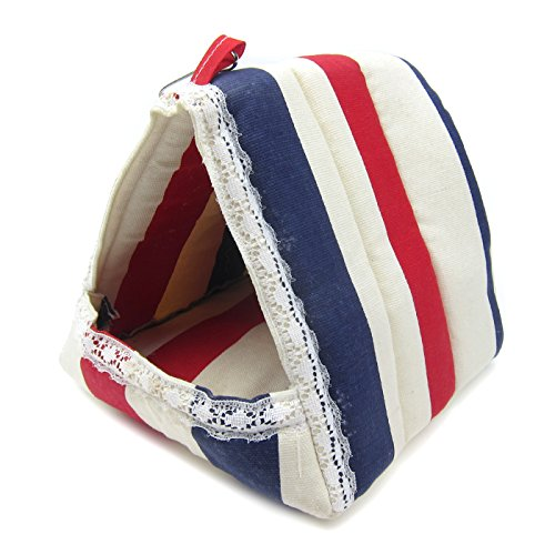 Alfie Pet by Petoga Couture – Hafez Triangle Hammock for Mouse, Chinchilla, Rat, Gerbil and Dwarf Hamster – Color: Stripe