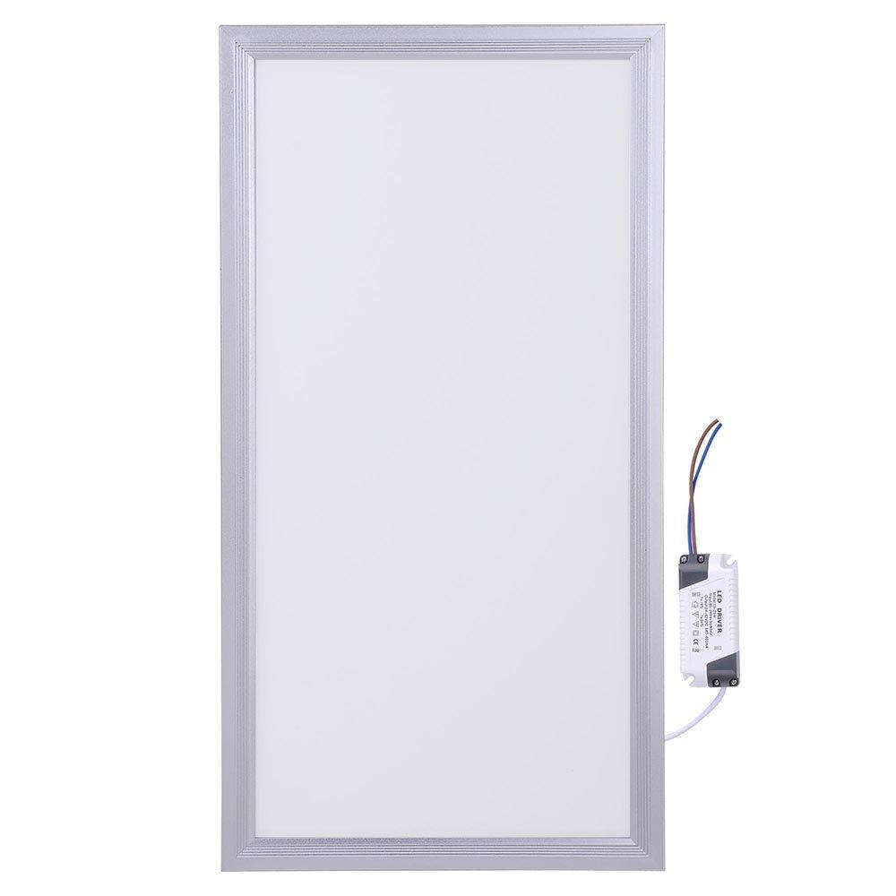 DELight 12W 12'' x 24'' LED Flat Panel Light, 6000K Cool White, Ultra Thin Edge-lit 1x2 LED Panel Ceiling Light