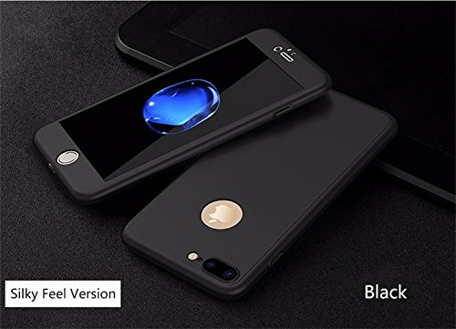 360 Degree Luxury Fashion Full Cover Matte Case ForTempered Glass For iPhone 7 Case Plus Phone Cases P13(For iphone 7/For iphone 7 Plus) (iphone 7 (Motorola Phone Corded Headsets)