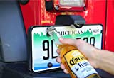 INL Bottle Opener Rear License Plate Mounted Accessory fits Jeep Wrangler JK ,TJ Models,Ford Raptor(F-150),M5/M6 Screws Suitable for most cars