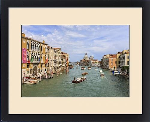 Framed Print of Traffic on Grand Canal. Venice. Italy by Fine Art Storehouse