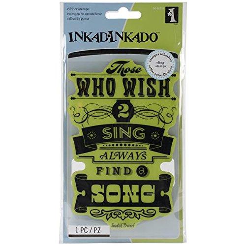 Inkadinkado Cling Stamp, Wish to Sing ()