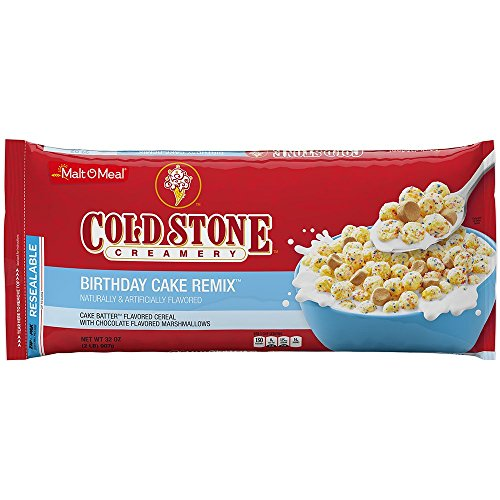 Malt-O-Meal Breakfast Cereal Value Bag, Cold Stone Creamery Birthday Cake Remix, 32 Ounce