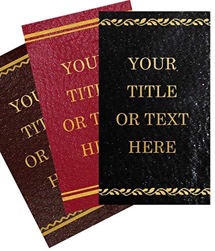 Custom Leather Book Labels - Gilt Foiling