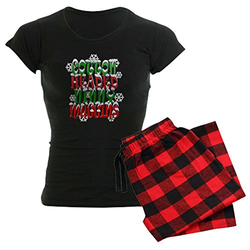 - CafePress Cotton Headed Ninny Muggins Womens Novelty Cotton Pajama Set, Comfortable PJ Sleepwear