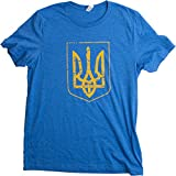 Ukraine Pride | Vintage Style, Retro-Feel Ukrainian Coat of Arms Unisex T-shirt-Adult,S
